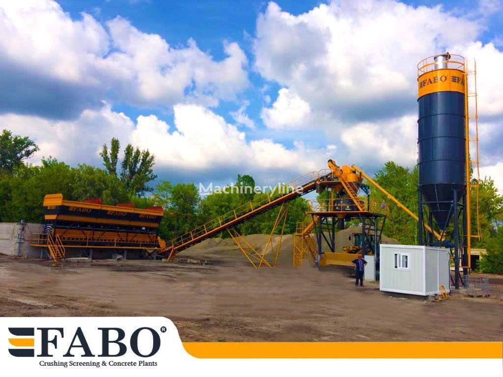 nowa betoniarnia FABO 75m3/h STATIONARY CONCRETE MIXING PLANT