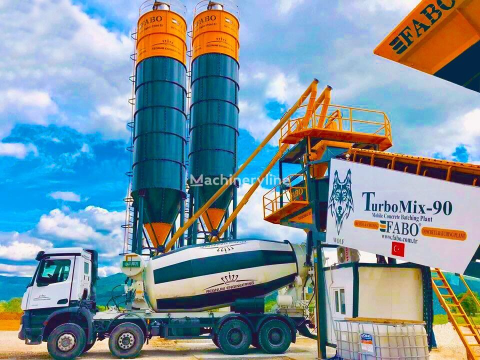 nowa betoniarnia FABO TURBOMIX-90 MOBILE CONCRETE PLANT HIGH QUALITY 90 M3/H